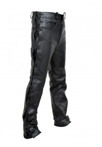 Men's Classic Jean Style Lace Leather pant