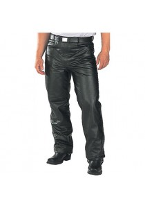 Men's Classic Jean Style Leather Pant