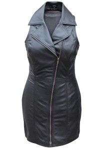 100% Genuine Soft Sexy Lamb Skin Leather Women Dress