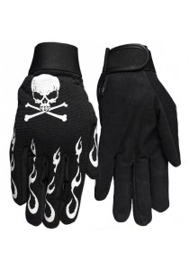Skull & Flames  Mechanics Gloves