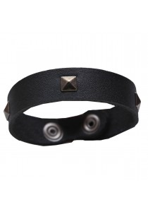 Pyramid Nickle Rivet Leather Wrist Band