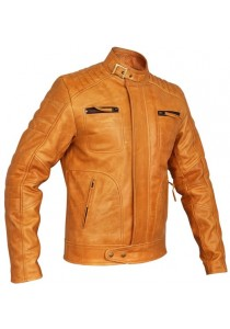Mens Designer Weybridge Tan Leather Jacket