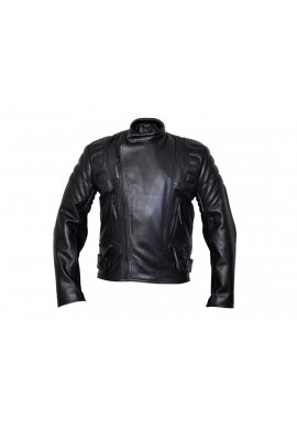 Men's Limo Padded Cowhide Motorcycle Leather Jacket