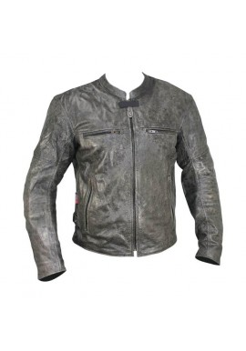 Men's Distressed Classic Motorcycle Leather Jacket