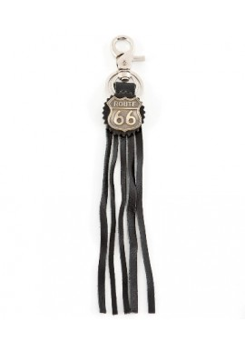Route 66 Leather Fringed Keyrings