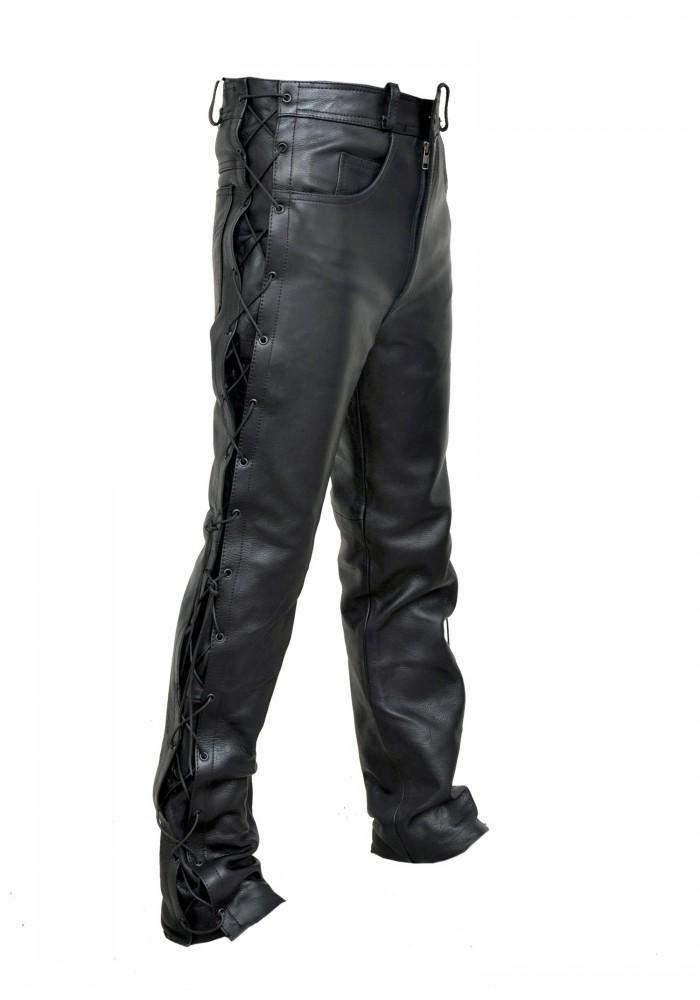 Men S Classic Jean Style Lace Leather Pant Men S Pants