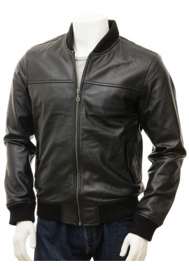 Men's Bomber Lamb Leather Jacket