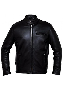 Men's Classic Racer Leather Motorcycle Jacket