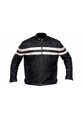 New Men's Racer  Leather Jacket