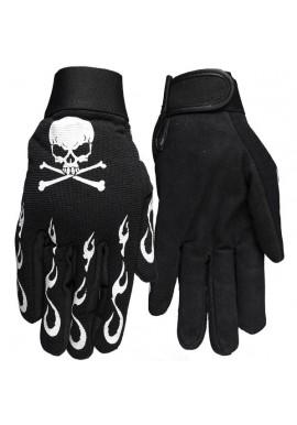 Skull & Flames  Mechanics Gloves