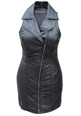 100% Genuine Soft Sexy Lamb Skin Leather Women Dress