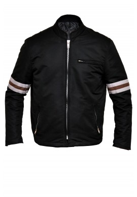 Men's designer stripped cordura textile Motorcycle Jacket